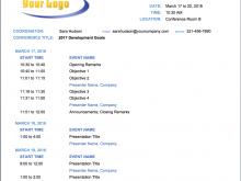 33 Free Training Seminar Agenda Template Formating for Training Seminar Agenda Template