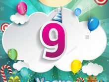 33 Online 9 Year Old Birthday Card Template Formating for 9 Year Old Birthday Card Template