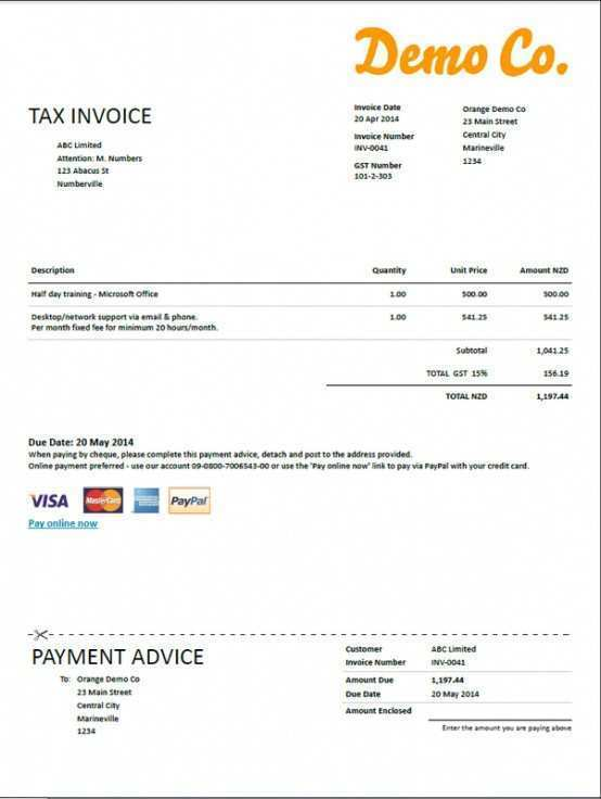 33 Online Tax Invoice Template Nz Psd File By Tax Invoice Template Nz Cards Design Templates