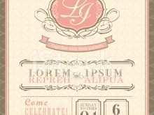 Vintage Wedding Card Design Templates