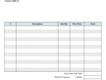 Blank Generic Invoice Template