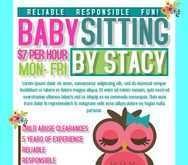 33 Standard Babysitting Flyer Free Template Maker with Babysitting Flyer Free Template