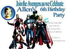 33 Standard Birthday Card Template Avengers Layouts by Birthday Card Template Avengers