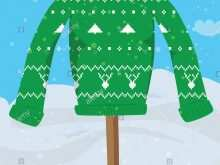 33 The Best Christmas Sweater Card Template Templates with Christmas Sweater Card Template