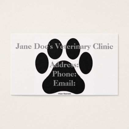 33 Visiting Business Card Template Paw Print PSD File with Business Card Template Paw Print