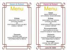 34 Adding Word Templates Menu Card Photo with Word Templates Menu Card