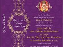 Invitation Card Format For Ganesh Chaturthi