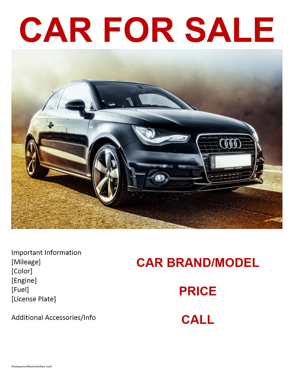 34 Blank Car For Sale Flyer Template PSD File with Car For Sale Flyer Template