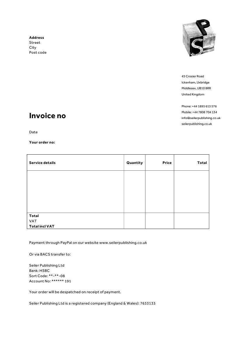 34 Blank Company Invoice Template Uk in Word with Company Invoice Template Uk