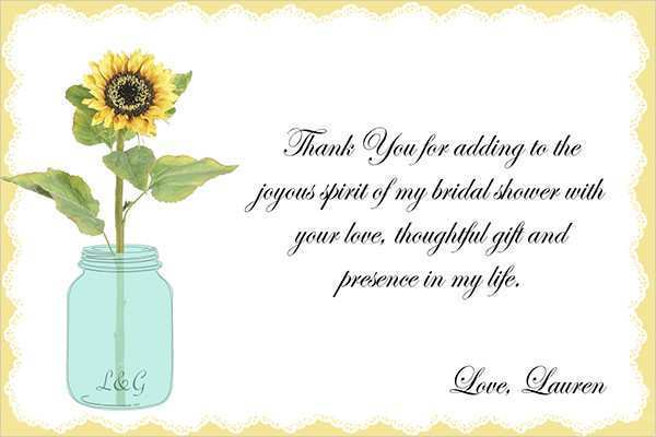 34 Create Bridal Shower Thank You Card Templates Layouts with Bridal Shower Thank You Card Templates