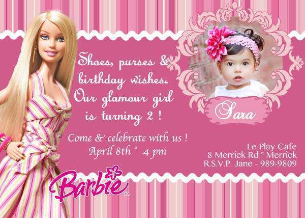 34 Creating Birthday Card Template Barbie Layouts by Birthday Card Template Barbie