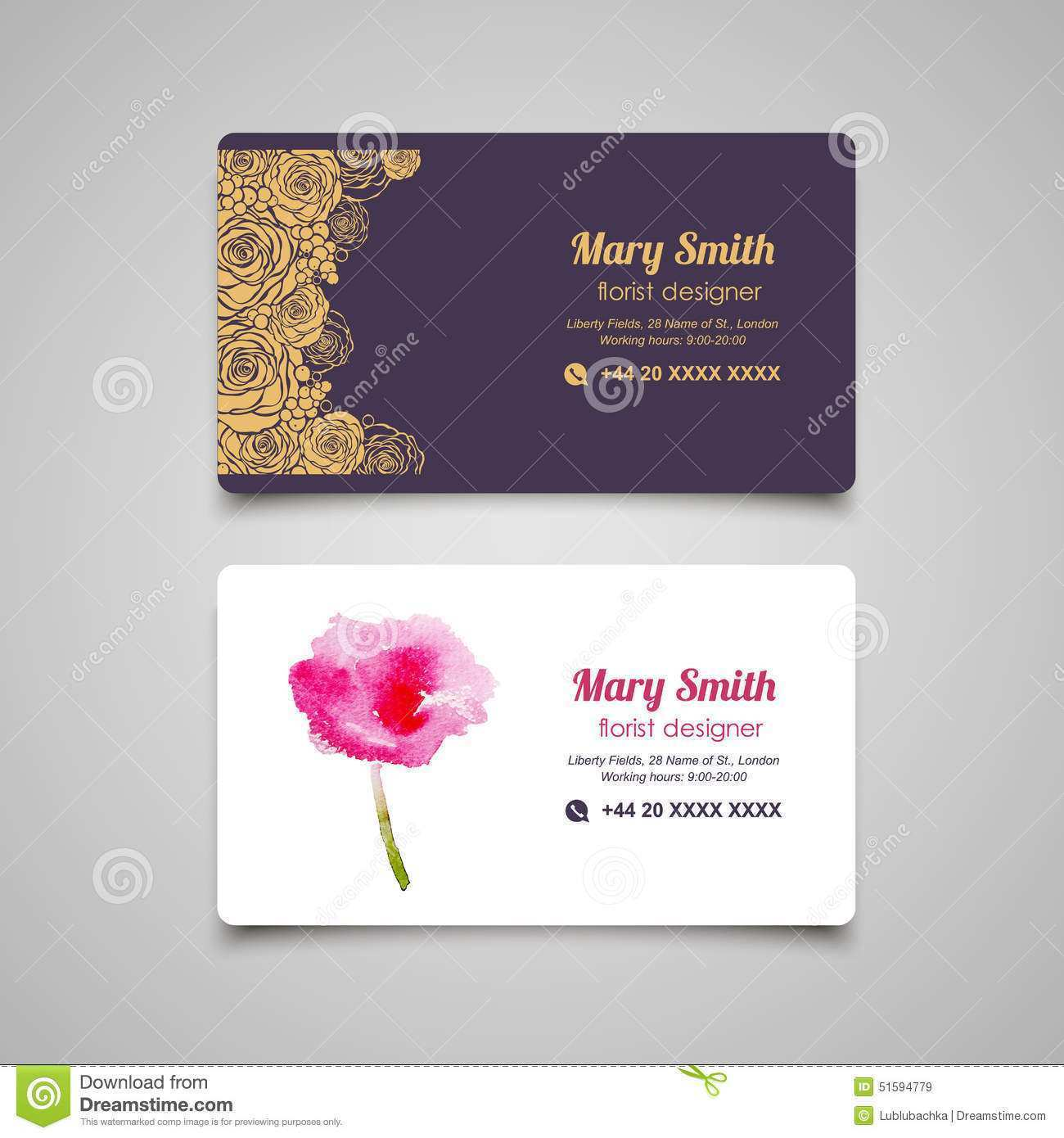 34 Creating Floral Name Card Template Free Now for Floral Name Card Template Free
