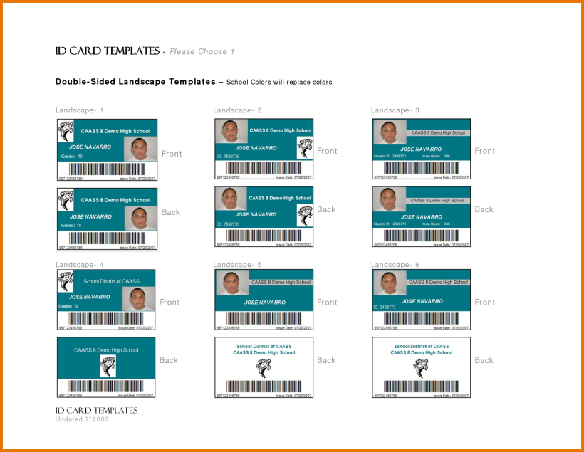 Id Card Template In Word Cards Design Templates