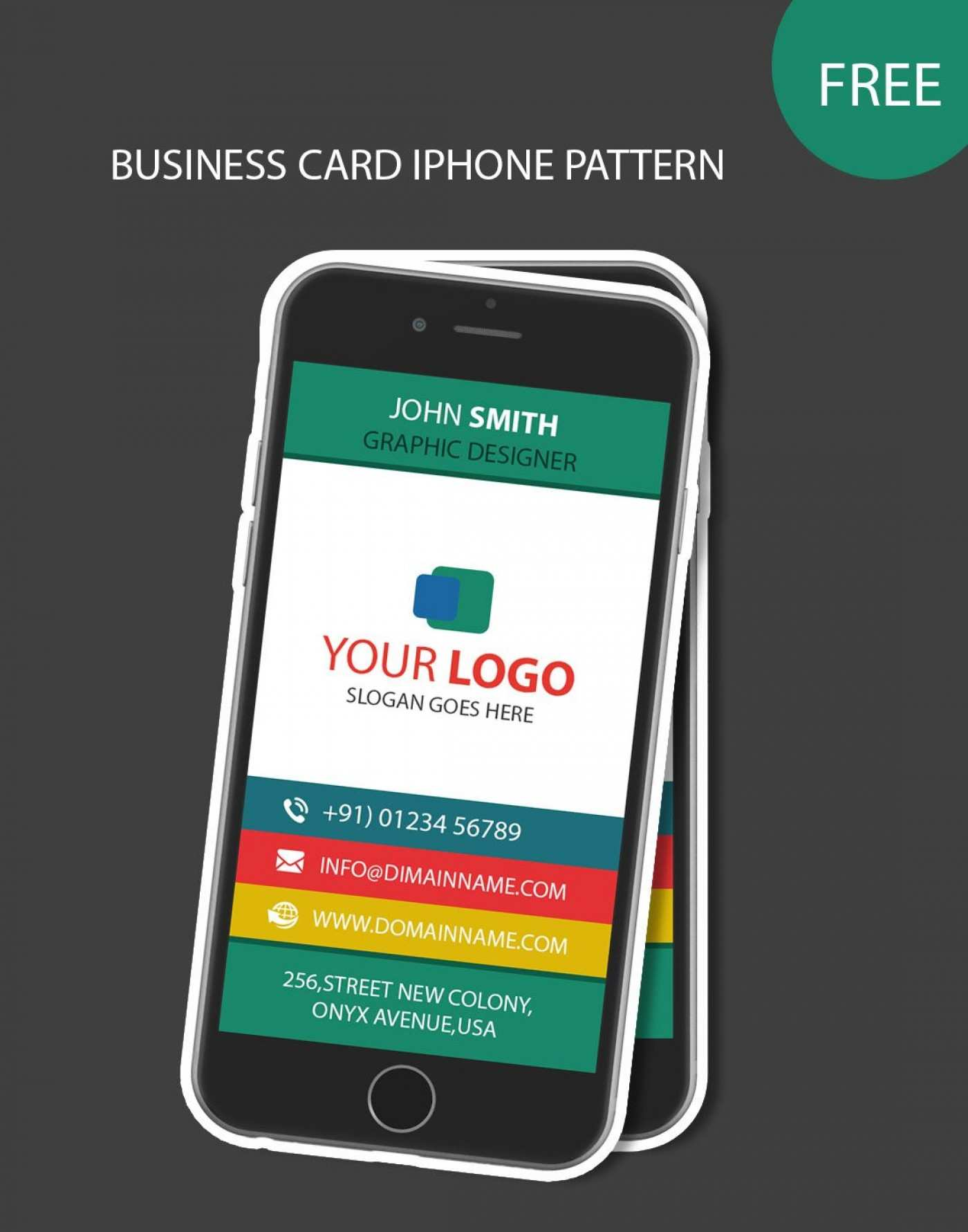 34 Creating Iphone Business Card Template Free Download For Free for Iphone Business Card Template Free Download