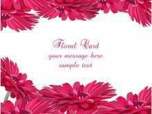 34 Customize Floral Card Template Free Now with Floral Card Template Free