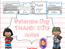 Veterans Day Thank You Card Template