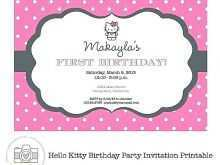 34 Free Birthday Invitation Card Template Hello Kitty in Word for Birthday Invitation Card Template Hello Kitty