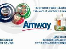 34 Free Printable Amway Name Card Template Now for Amway Name Card Template