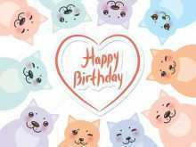 34 Free Printable Birthday Card Template Cat with Birthday Card Template Cat
