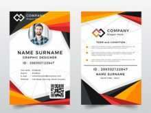 Id Card Template Front And Back