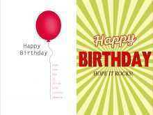 Birthday Card Templates In Word