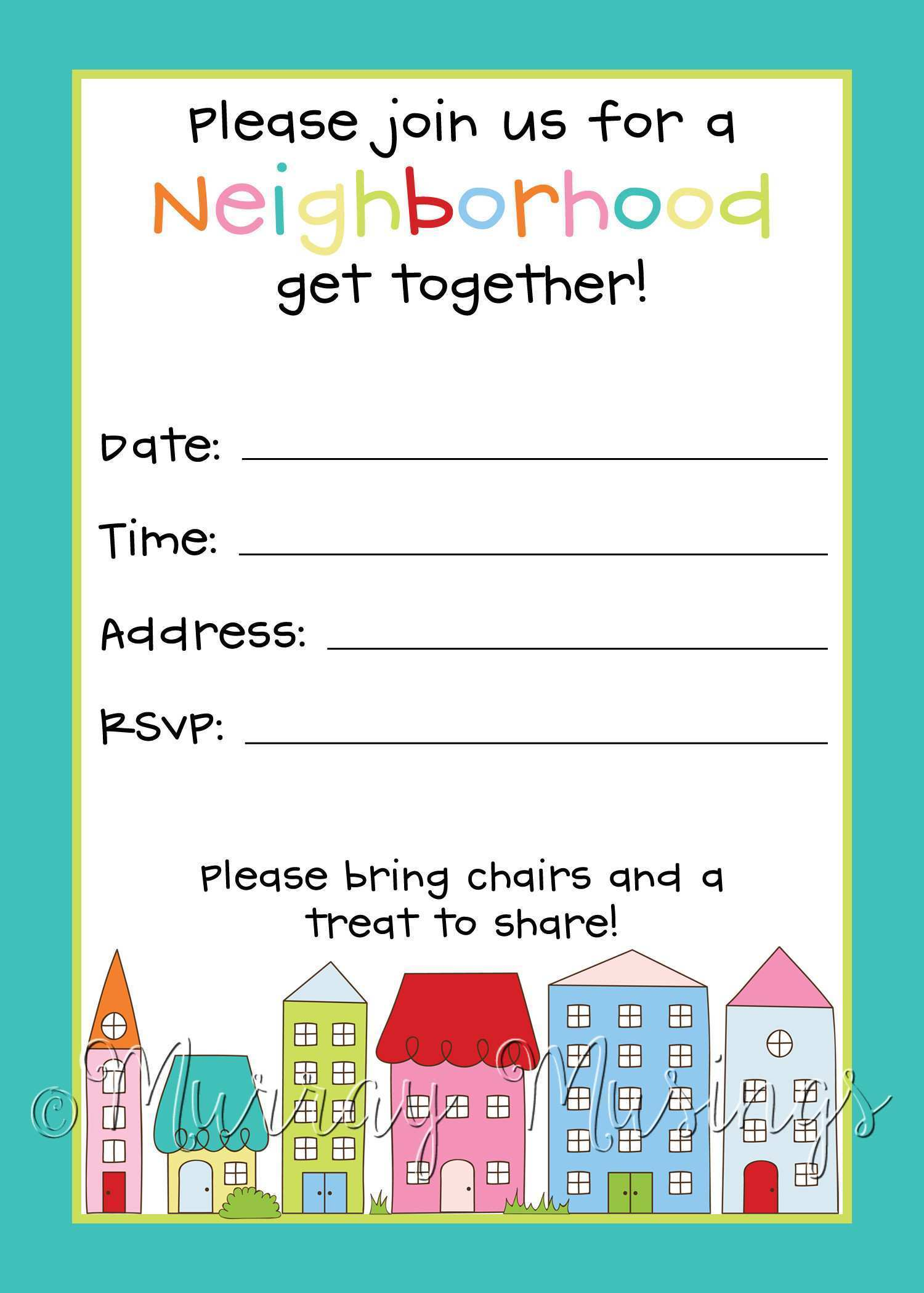 34 How To Create Block Party Template Flyers Free Now with Block Party Template Flyers Free