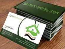 Business Card Templates Construction