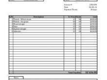34 Printable Blank Invoice Template In Excel in Photoshop with Blank Invoice Template In Excel