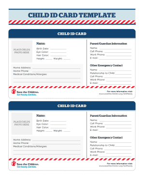 34 Standard Emergency Id Card Template Now with Emergency Id Card Template