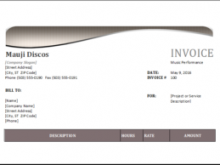 34 The Best Artist Invoice Format Download for Artist Invoice Format