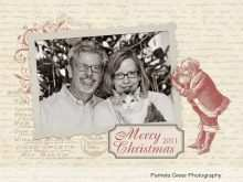 34 The Best Vintage Christmas Photo Card Templates Formating by Vintage Christmas Photo Card Templates