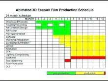 34 Visiting Animation Production Schedule Template Now for Animation Production Schedule Template
