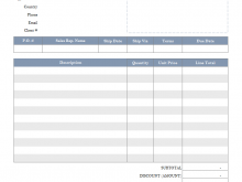 34 Visiting Blank Electrical Invoice Template Now for Blank Electrical Invoice Template