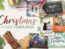 35 Best Christmas Card Template 2 Photos PSD File with Christmas Card Template 2 Photos