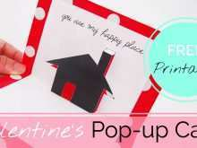 35 Best Free Printable Valentine Pop Up Card Templates for Ms Word with Free Printable Valentine Pop Up Card Templates