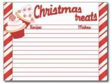 35 Blank Christmas Recipe Card Templates For Free by Christmas Recipe Card Templates