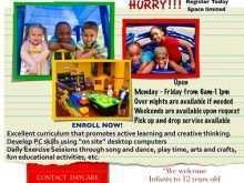 35 Create After School Care Flyer Templates PSD File by After School Care Flyer Templates