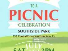 Blank Picnic Flyer Template