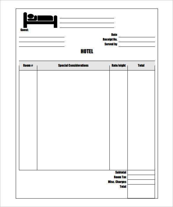 35 Create Hotel Invoice Template Excel Free Templates for Hotel Invoice Template Excel Free