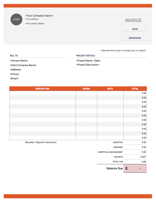 35 Creating Invoice Template For Freelance Work in Word with Invoice Template For Freelance Work