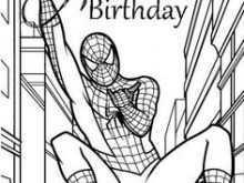 35 Creative Birthday Card Template Spiderman PSD File for Birthday Card Template Spiderman