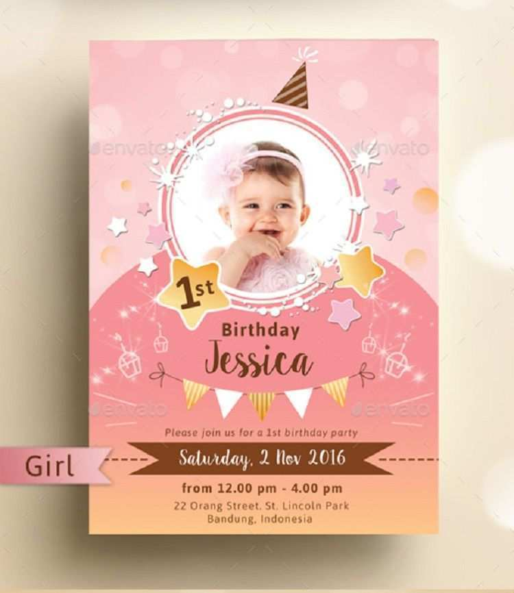 35 Customize Our Free 1St Birthday Card Template Psd Now with 1St Birthday Card Template Psd