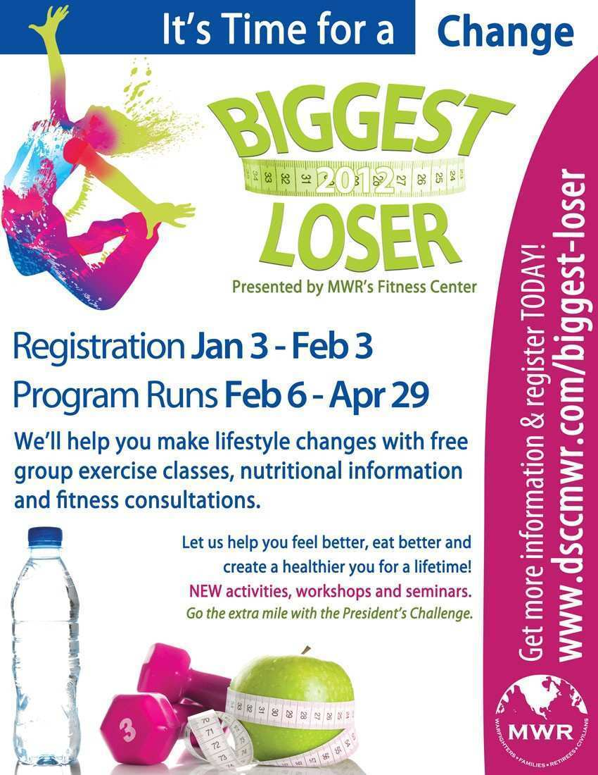 35 Customize Our Free Biggest Loser Flyer Template Now with Biggest Loser Flyer Template