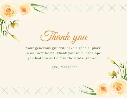 Bridal Shower Thank You Card Templates