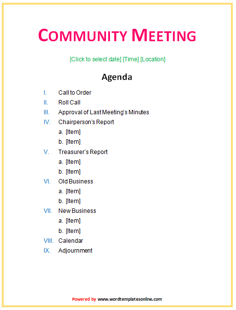 Free Meeting Agenda Template Microsoft Word from legaldbol.com