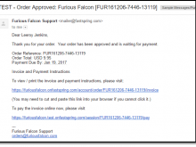 Email Invoice Message Example