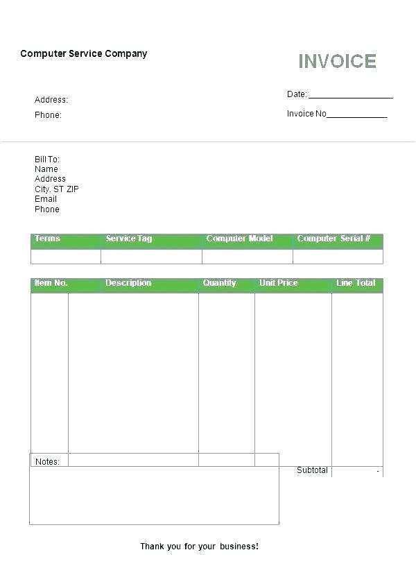 35 Free Printable Blank Invoice Template Online For Free for Blank Invoice Template Online