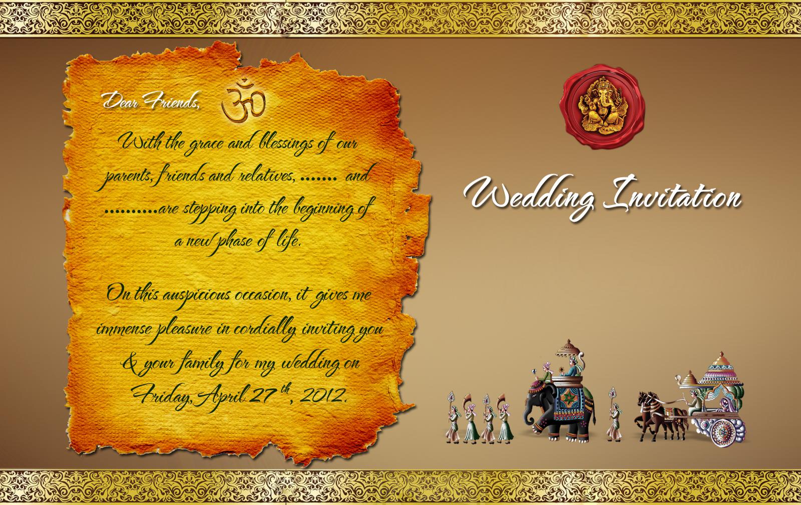 Wedding Card Templates Free Download Indian Cards Design Templates