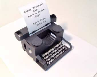 35 How To Create Typewriter Pop Up Card Template For Free with Typewriter Pop Up Card Template