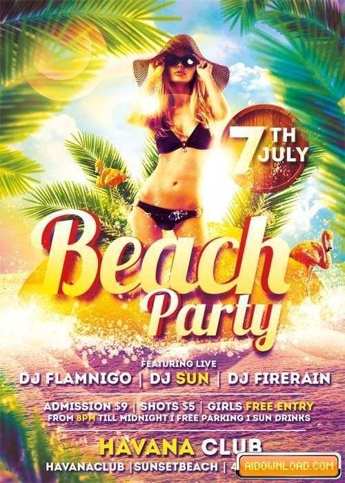 35 Printable Beach Flyer Template Free For Free by Beach Flyer Template Free